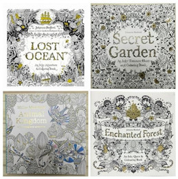 Wholesale Secret Garden Lost Ocean Coloring Book Hot Sale in Amazon by Johanna Basford for Kids Adult Relieve Stress Coloring Book