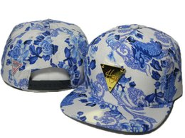 beautiful Blue and white porcelain floral Snapback hats flower Hater snapback caps Adjustable hip pop street hat basketball caps DDMY