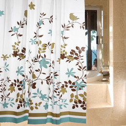 Wholesale Classic Modern Floral m Thick Waterproof PEVA Shower Curtain Bathroom Curtain With Hooks L3271