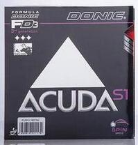 Wholesale Donic ACUDA S1 ACUDA S1 Turbo table tennis rubber table tennis rackets racquet sport table tennis cover Ping Pong rubber