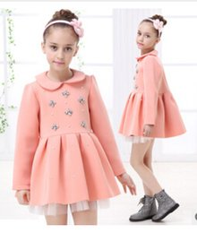 Wholesale New autumn girl long sleeve Nail bead princess dress fashion party formal dress
