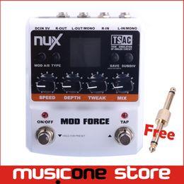 Efectos de modulación en Línea-NUX MOD Fuerza Multi Modulación guitarra Efecto Pedal Dual Motor con Paralelo paralelo Switchab MU0154