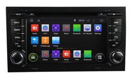 Promotion tuner audio vidéo Pure Android 4.4 Dual Din 7inch Lecteur DVD de voiture pour Audi A4 2003-2011 Navigation GPS Radio TV BT USB AUX 3G WIFI DVR audio stéréo avec Canbus
