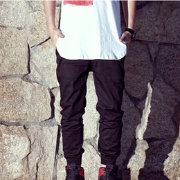 Wholesale-Free Shipping 2015 new brand pants man cotton beam jogger Pure pants hip hop sports reentrant chino trousers men #P0036