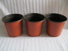 D9xH8CM 100PCS LOT double color plastic pots caliber corrosion resistance postoral plastic flower pots plastic Nursery Pots