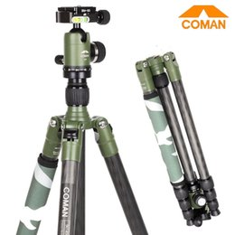 Coman Carbon Fiber Freeman Series Tripod Kit Adjustable Portable Tripod with Ball Head for Canon Nikon Sony DSLR Cameras
