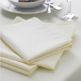 Wholesale WHITE NAPKINS THICKENED TABLE LINEN COTTON x cm PACK NEW