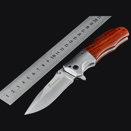 Browning DA51 Folding Hunting Knife 440C Blade Survival Pocket Knives fast open Camping Multi Tools With Redwood Handle High quality!