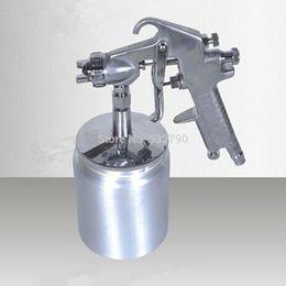 Wholesale 1 mm Tip HVLP Spray Gun Auto Paint Car Base Coat Primer Clear Gauge Feed order lt no track