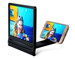 Wholesale 2016 Newest D Glasses Movie TV Enlarged screen Stand Holders Portable Holder For Apple Samsung Smart Mobile Phone With Retail Package