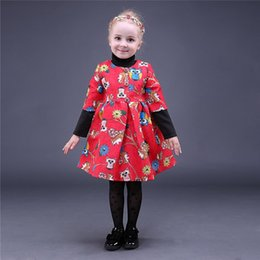 New Fashion Pettigirl Retail Animal Printed Girls Dress Owl Flower Party Dresses With Button Half Sleeve Baby Kids Clothing GD80928-3
