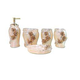 Creative Natural Resin bathroom Wujiantao Bath Set Houseware Wash package resin bathroom accessories