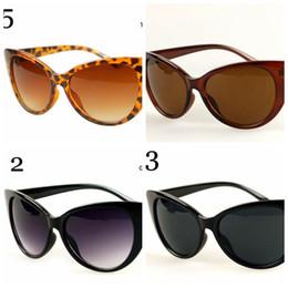Lente de espejo en Línea-20PCS LJJM07 mujeres del diseñador del ojo de gato Negro clásico de las gafas de sol retro lentes de moda Vintage sombras reflejadas Gafas