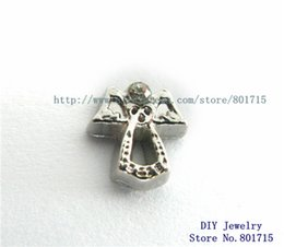 Wholesale beautiful charms angel wrings FC1055 floating locket charms for floating living locket as gift wholesales