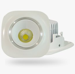 Square Cob Led Ceiling Downlight 10w Warm white White Cold White Dimmable Recessed Led Down Light AC90-240V CE