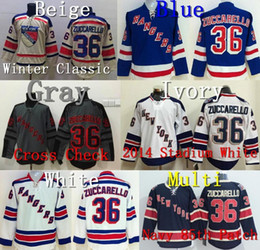 Wholesale Factory Outlet NY New York Rangers Mats Zuccarello Jersey blue white White Stadium Beige Winter Classic Gray Cross Check Navy th Jer
