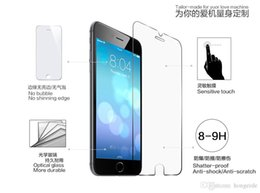 Descuento iphone vidrio de alta calidad Pantalla completa 50pcs alta calidad de cristal templado película del protector de vidrio templado de membrana para el iPhone 6 más 5,5 '' caja al por menor
