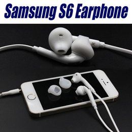Wholesale For Galaxy S6 Earphones Headphone mm earphone In Ear Stereo Headset Headphones With Mic and Remote Volume Control For Note