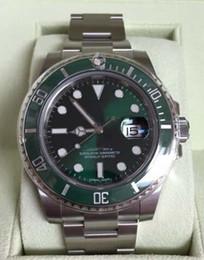NUEVO RELOJ DE LUJO 116610LV cerámica verde HULK Box Nuevo Estilo Blanco Tarjetas de pulsera wristwatch ceramic white for sale desde cerámica blanca reloj de pulsera proveedores