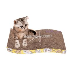Wholesale Pet Cat S shaped Paper Mill Scratch Cat Toy Box Bed Scratching Board Protect Cat Paw Furniture Catmint Litter Catnip