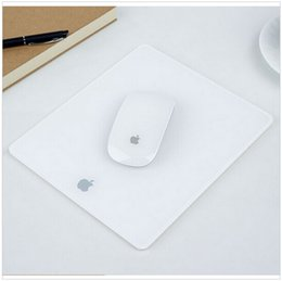 Wholesale New Stylish Acrylic Plexiglass Matte Surface Game Desk Frosted Mouse Pad Mat Design For Apple MackBook Computer Laptop