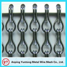 Wholesale Gunmetal Aluminum chain link fly screen door curtain