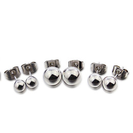 Wholesale surgical ball stud earring for women stainless steel ear jewelry