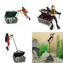 Wholesale Hot Sale Beautiful design Treasure Chest Shaped Aquarium Action Air Ornament for Decoration Craft Fish Tank Aquascaping New
