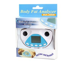 Wholesale Factory Price Free Sipping Digital LCD Body Fat Analyzer Health Monitor BMI Meter Tester Calculator Via DHL