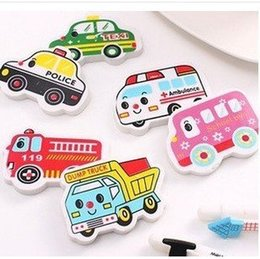Wholesale Free ship as a Cartoon cute color automobile styling art car erasers order lt no tracking
