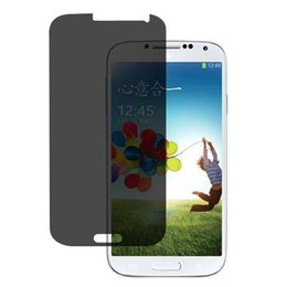Wholesale-New Privacy Anti-Spy LCD Screen Protector Guard Shield Film For Samsung Galaxy S4 Tonsee