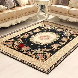 Absorbent Non-slip Modern Carpet for Living Room Bedroom Machine Washable Luxury Jacquard Rugs   Door Mat Red Brown Beige