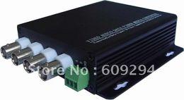 Wholesale-CCTV Video Optical Transceiver-4 Channels video optical digital converter( transmitter receiver),4Video and 1Data