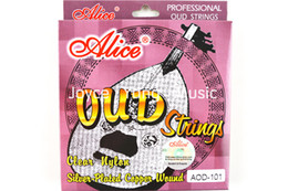 Wholesale Alice AOD OUD Strings Clear Nylon Silver Plated Copper Wound String Wholesales