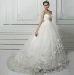 Wholesale 2016 Princess Wedding Dresses for Pregnant Bandage Women High Waist Sweetheart Romantic Bridal Wedding Gowns
