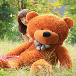 Ours saint valentin cadeau géant en Ligne-New Arrival 6,5 Pieds Huge TEDDY BEAR Stuffed Brown Giant JUMBO Doll pour Noël Cadeau de Saint-Valentin d'anniversaire