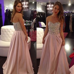 Wholesale Best Selling Cheap Christmas Party Prom Dress Sweetheart Crystals Sequins Beaded Evening Gowns A line Special Occasion Formal Dresses AD72