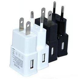 Wholesale USB Wall Plug Charger V A Single USB Output Ports A EU Plug Wall Charger AC Power Adapter for Galaxy S5 Smart Phone iPhone iPad OM CC6
