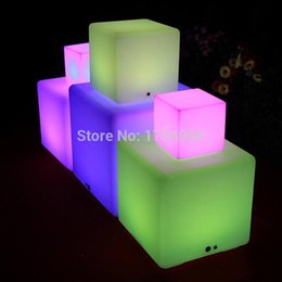 Wholesale 2015 Rechargeable Led Cube Led Cube light Led Glow Cube Stools Led Luminous Light Bar Stool Color Changeable