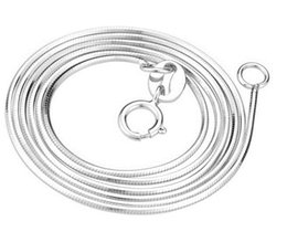 Wholesale 18 Inch CM silver Plated Smooth Snake Chain Necklace With Extension Cheap DIY Jewelry Component