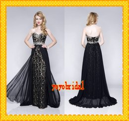 Sexy Black Lace Nude Prom Dresses 2015 Sweetheart Sequins Sheath Chiffon Removable Cheap New Evening Formal pageant Dress Gown