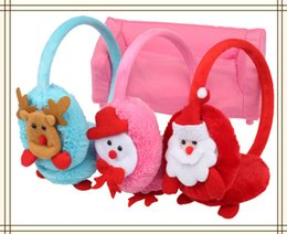 Wholesale-FISH sweet 3PCS LOT Christmas gifts Christmas supplies Christmas earmuffs ear protection ear cover sets, Free Shipping