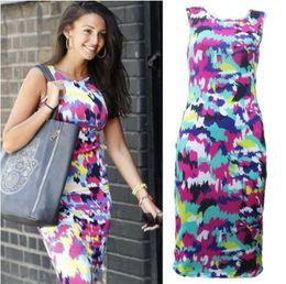 2016 Fashion Women Summer Dresses Skirt Vestidos Sleeveless Bodycon Bangage Party Pencil Dress Clubwear Casual Vest Dress Clothes A71