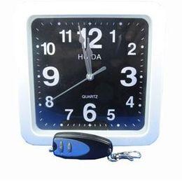 16GB Clock spy White square wall clock hidden spy camera dvr with 16GB memory,16GB Wall Clock Spy Camera with Remote Control