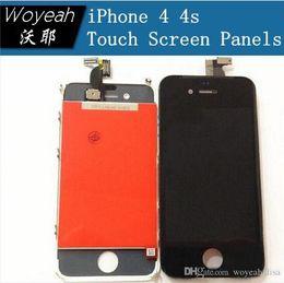 Pantalla táctil del reemplazo + Pantalla LCD Digitalizador + Polvo Mesh + Frame asamblea de sistema completo para el iPhone 4 4G 4S CDMA desde iphone 4s conjunto completo proveedores