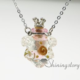 flower aromatherapy jewelry scents aromatherapy pendants aromatherapy pendants miniature glass bottles pendant necklace wholesale perfume sa