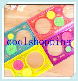 DHL Freeshipping 200pcs Creative Student straight Ruler Plastic Spirograph Ruler Drawing ruler