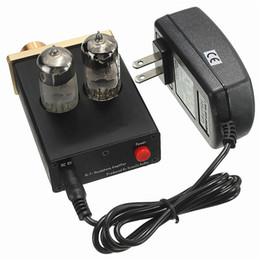 Wholesale 2016 Interesting Vacuum Tube Integrated Amplifier Mini U808 Audio Hi Fi Stereo Headphone Amp Lamp Bulbs