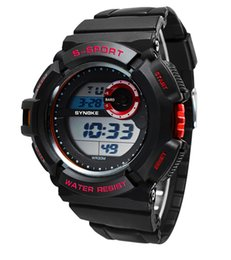 New Fashion Sport PU Watches Strap Round Dial Waterproof Watches LED Digital Watches For Men Free Shipping