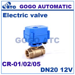 Wholesale 3 quot DN20 V DC Brass Motorized Ball Valve way Electrical MINI Ball Valve CR CR CR Wires electric automatic valve